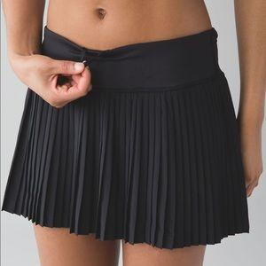 Lululemon Black Pleated Tennis Skirt